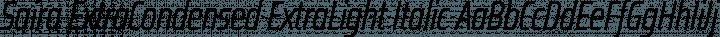 Saira ExtraCondensed ExtraLight Italic free font