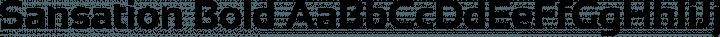 Sansation Bold free font