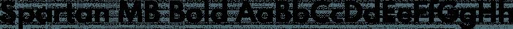 Spartan MB Bold free font
