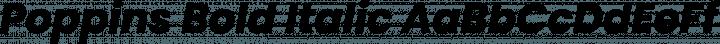 Poppins Bold Italic free font