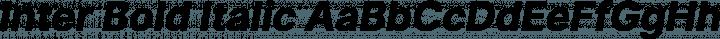 Inter Bold Italic free font