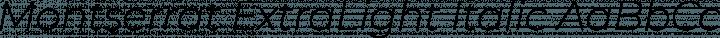 Montserrat ExtraLight Italic free font