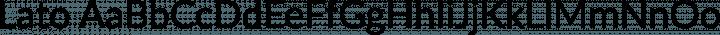 Lato Regular free font
