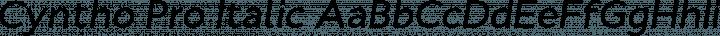 Cyntho Pro Italic free font