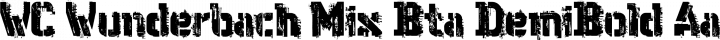 WC Wunderbach Mix Bta DemiBold free font