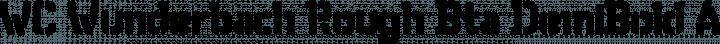 WC Wunderbach Rough Bta DemiBold free font