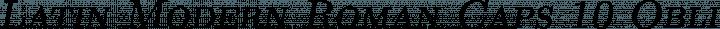 Latin Modern Roman Caps 10 Oblique free font