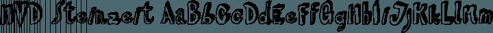 HVD Steinzeit Regular free font
