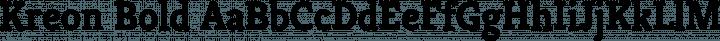 Kreon Bold free font