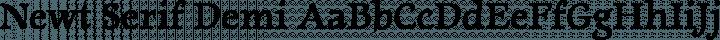 Newt Serif Demi free font