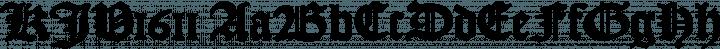 KJV1611 font family by Fredrick Brennan