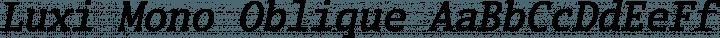 Luxi Mono Oblique free font