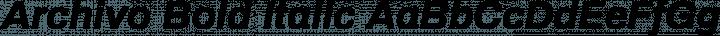 Archivo Bold Italic free font