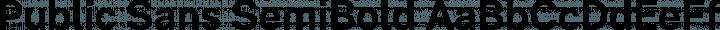 Public Sans SemiBold free font