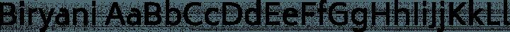 Biryani Regular free font