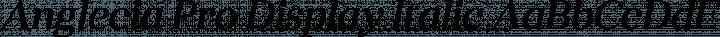 Anglecia Pro Display Italic free font