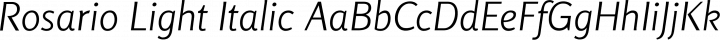 Rosario Light Italic free font