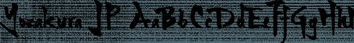 Yozakura JP font family by Kotonoha Works