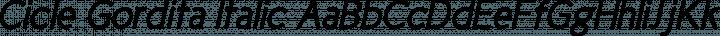 Cicle Gordita Italic free font