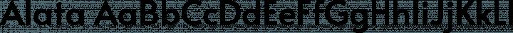 Alata font family by Spyros Zevelakis