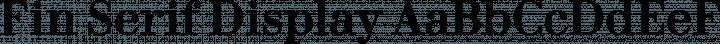 Fin Serif Display font family by J Blake Harris
