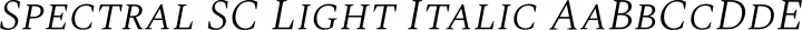 Spectral SC Light Italic free font