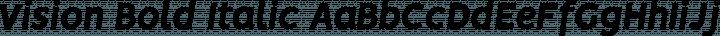 Vision Bold Italic free font