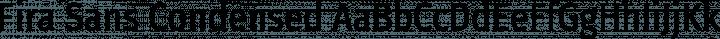 Fira Sans Condensed Regular free font