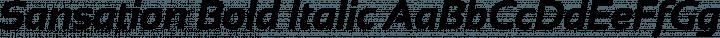 Sansation Bold Italic free font