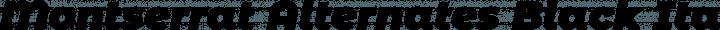 Montserrat Alternates Black Italic free font