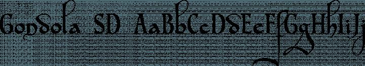 Gondola SD font family by Steve Deffeyes