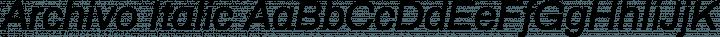 Archivo Italic free font
