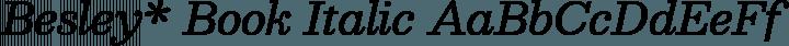 Besley* Book Italic free font