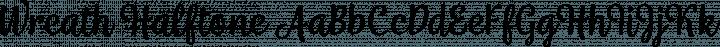 Wreath Halftone Regular free font
