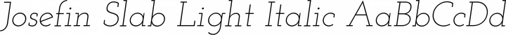 Josefin Slab Light Italic free font