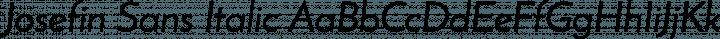 Josefin Sans Italic free font