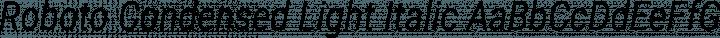 Roboto Condensed Light Italic free font