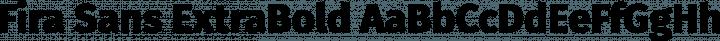 Fira Sans ExtraBold free font