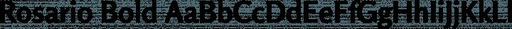 Rosario Bold free font