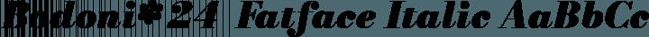 Bodoni* 24  Fatface Italic free font