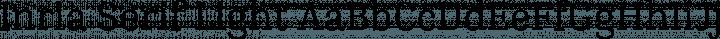Inria Serif Light free font