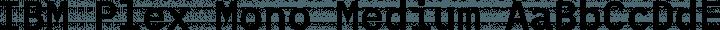 IBM Plex Mono Medium free font