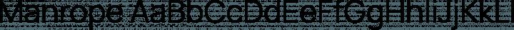 Manrope Regular free font