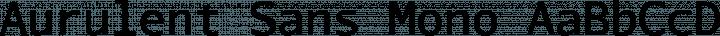 Aurulent Sans Mono font family by Stephen G. Hartke