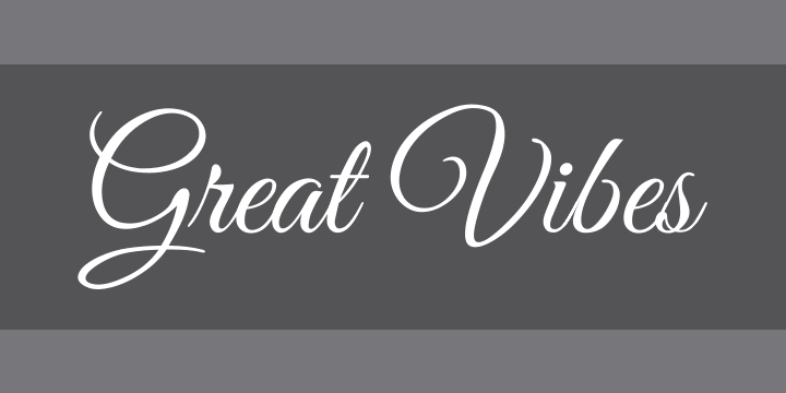Great Vibes » Font Zillion