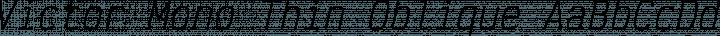 Victor Mono Thin Oblique free font