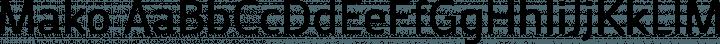 Mako font family by Vernon Adams