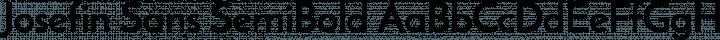 Josefin Sans SemiBold free font