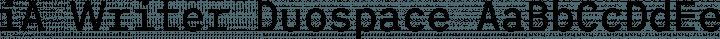 iA Writer Duospace Regular free font