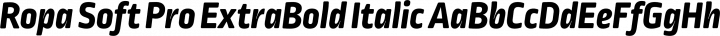 Ropa Soft Pro ExtraBold Italic free font